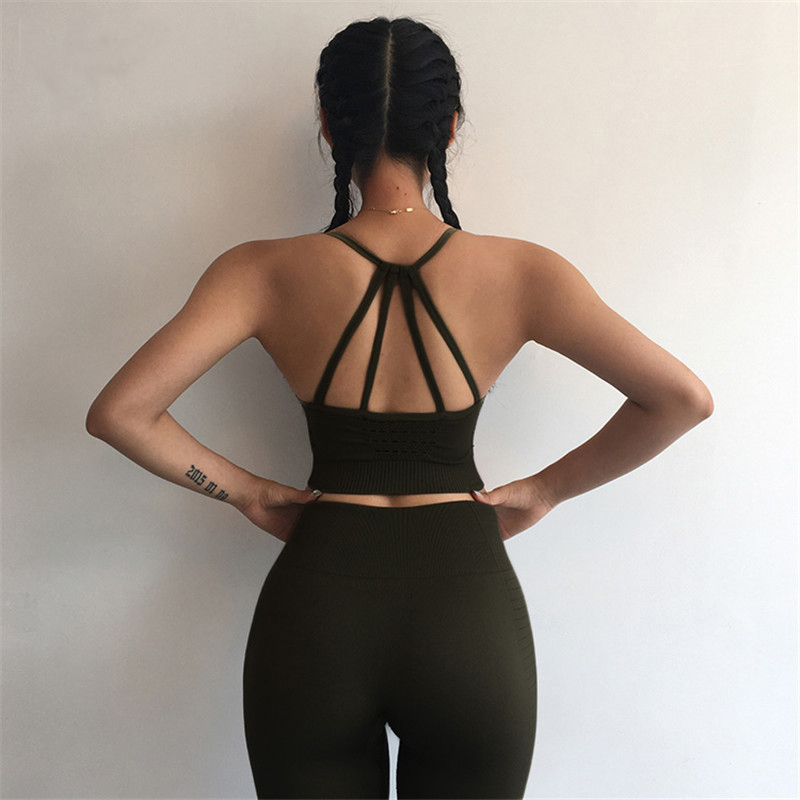 Yoga Set Sport Wear Women Sports Suit Fitness Gym Clothing Seamless Sports Bra Leggings Workout Running Tracksuits Dropshipping