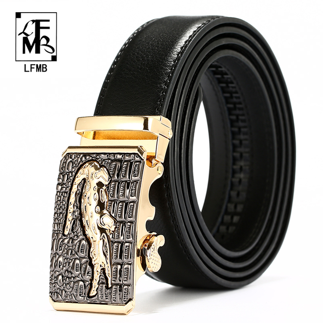 Lfmb Automatic Buckle Cowboy Classic Crocodile Stylish Belts Men