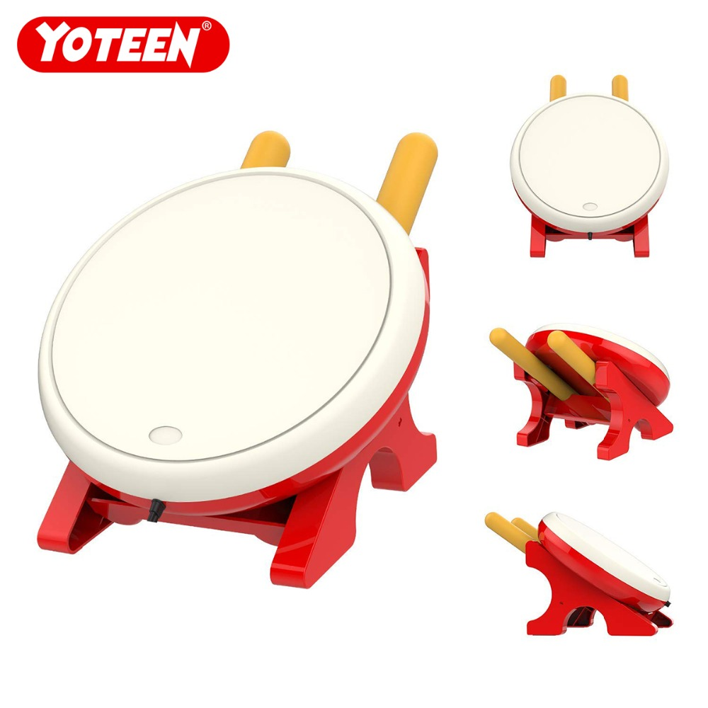 Yoteen contrôleur de tambour pour Nintendo Switch jeu vidéo contrôleur de tambour maître jeu de détection de mouvement Taiko accessoires de maître de tambour