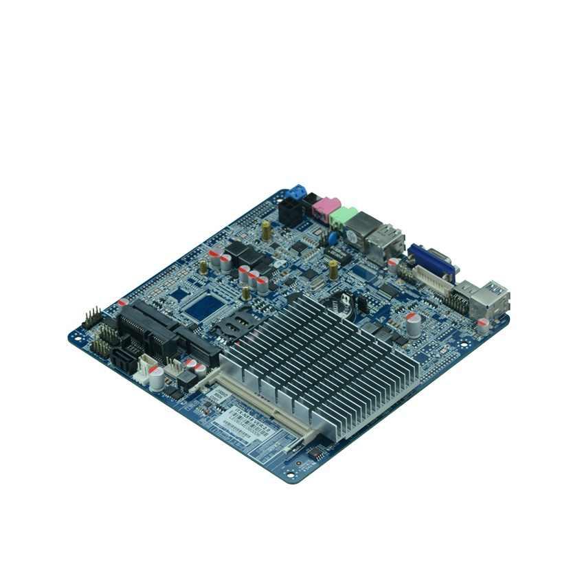 Không quạt celeron J1800/2.41 Gam Dual core tất cả trong một bo mạch chủ Mỏng nhúng công nghiệp bo mạch chủ với 9 * USB