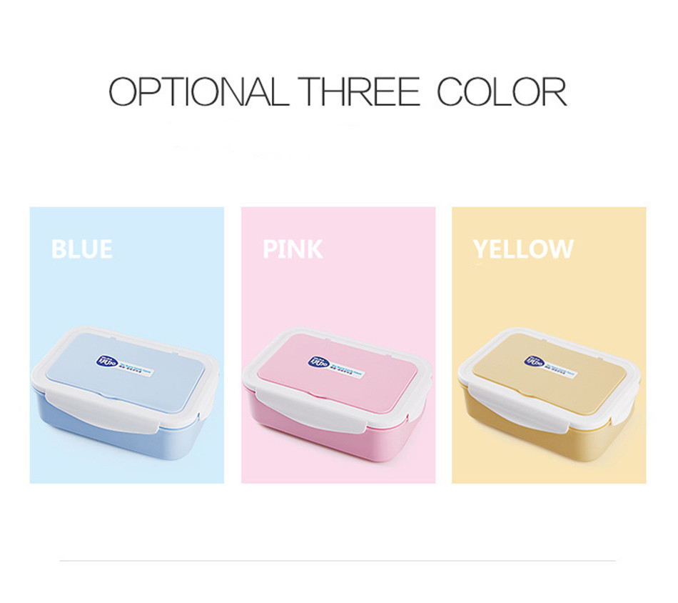 ONEUP Lunch Box Eco-Friendly Portable Food Container With Bags Tableware Microwavable Bento Box For kids Picnic School Office 3