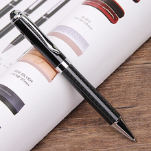 Hot Sale Full Carbon Fiber Ballpoint Pen for Fathers Day Gifts Metal Heavy  Office Writing pen 6841