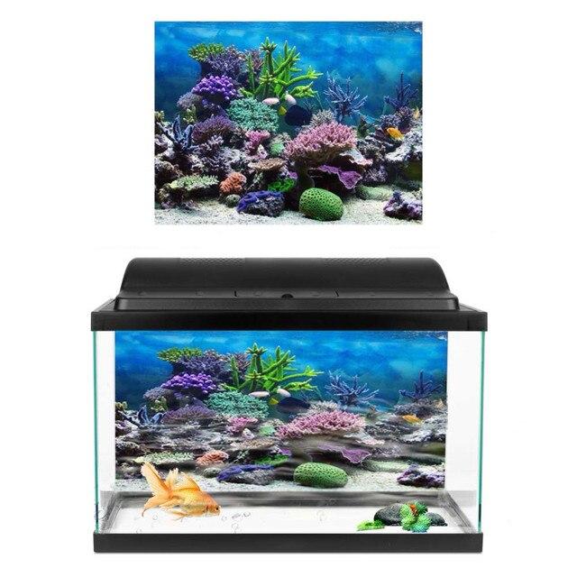 ПВХ 3D эффект аквариума плакат океан Природный Пейзаж Плакат задний фон для аквариума наклейка для аквариума украшение для аквариума