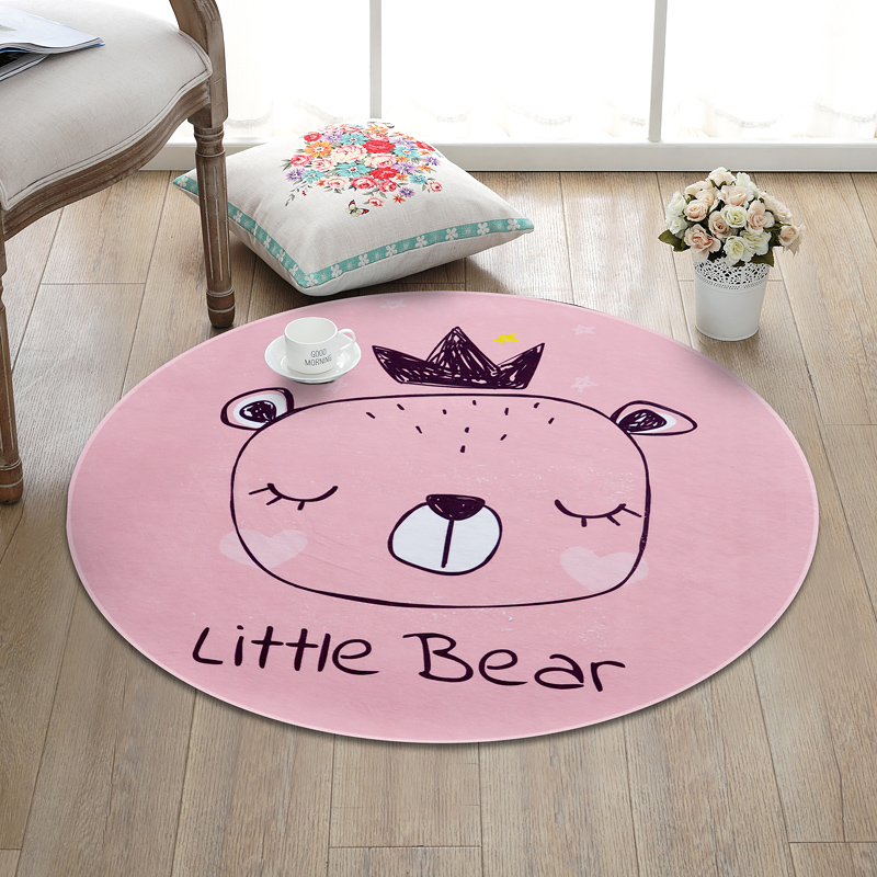 simplicity cartoon Multi-size Round Carpets for Living Room Crawl tapete Fashion Kids baby Bedroom Game Non-slip floor Mat Rugs