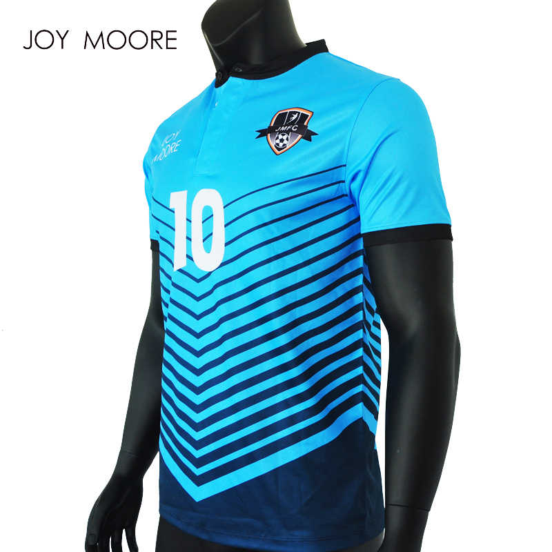 online retailer 18d30 35433 Men Soccer Jerseys Polyester polo Collar full sublimated custom football  shirt
