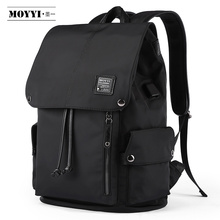 Moyyi最高品質防水大型バックパック男性機能14 15.6 ラップトップバックパック男性屋外旅行mochilasファッションバッグ
