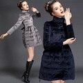 New Fashion 2015 Long Winter Jacket Women  Korean Cute Bow Warm Cotton Parka Mujer Plus Size Women Winter Clothing