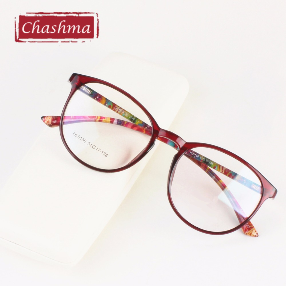 Chashma Brand Big Frame Fresh Style TR 90 Eyewear Women Large Round Frame Vintage Optical Frame Spectacles oculos de grau reflection