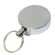 Outdoor High Resilience Steel Wire Rope Chain Recoil Metal Retractable Key Chain Alarm Key Ring Anti Lost Useful TX005 pure handmake stainless steel key chain car key ring creative anti lost brass key chain