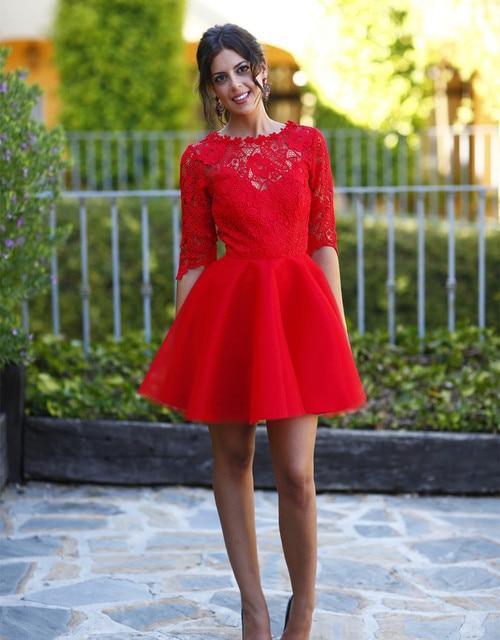 3f9c2d99c vestidos para bodas rojos cortos