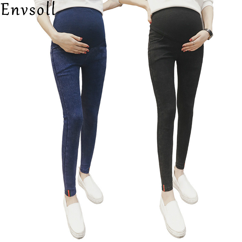 Envsoll Maternity Pants Jeans For Pregnancy Clothing Trousers Pregnant Women Wear Leggings Strench Maternity Jeans New Premama woman fashion slim solid knee distrressed maternity wear jeans premama pregnancy prop belly adjustable pants for women c73