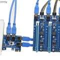 60 センチメートル USB 3.0 PCI-E エクスプレス 1x に 16x エクステンダーライザーカードアダプター pcie 1 に 4 usb グラフィックスビデオカードの Bitcoin Litecoin