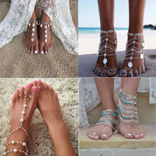 Vedawas Fashion Statement Jewelry Sand Hot Sexy Anklets Boho Multicolor Pearls Maxi Anklet Various Styles Wholesale 1 Piece 2224