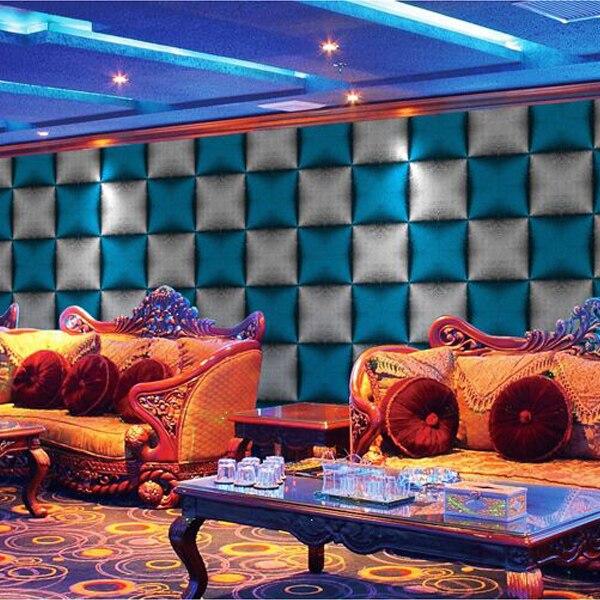 PAYSOTA papier peint moderne Simple élégant noir et blanc carré Bar KTV salon TV fond papier peint rouleaux