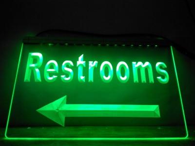 Restrooms LED Neon Light Sign