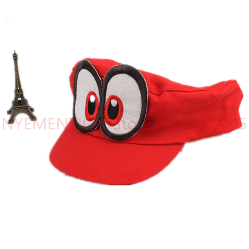 20 PCS Anime Game Super Mario Odyssey Hat Adult Kids Cosplay Costume Adjustable Cap Handmade