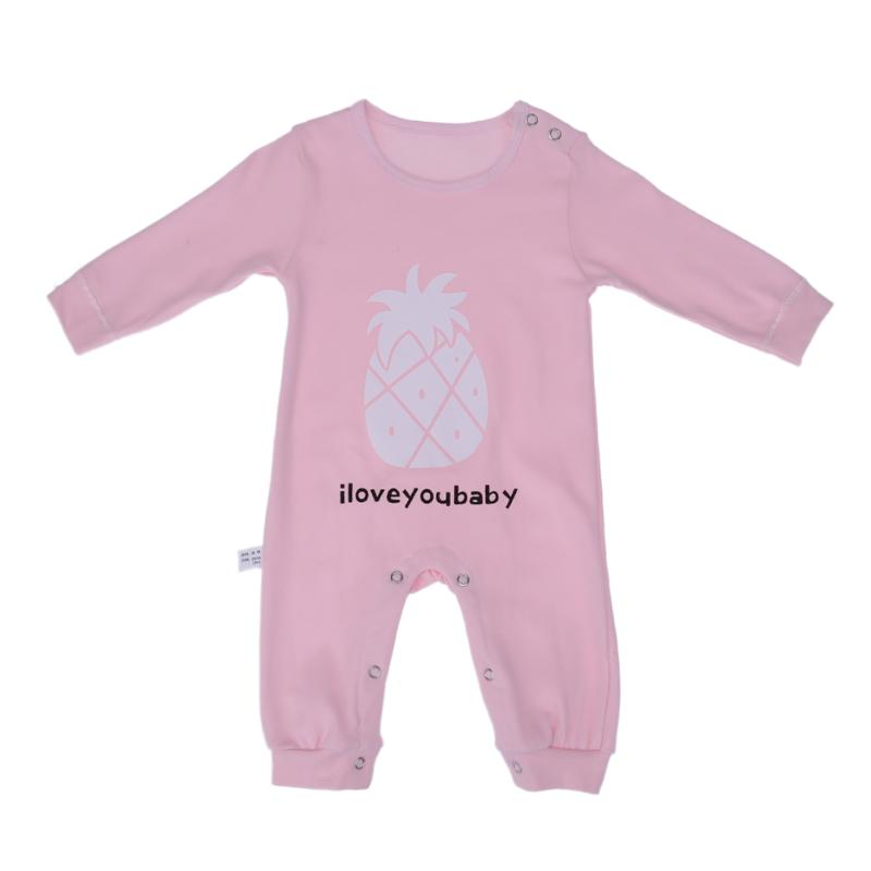 Baby Romper Soft Fruits Printed Pajamas Infant Boy Girl Clothes 2017 Winter Warm Cute Newborn Long Sleeve Romper Jumpsuit Outfit