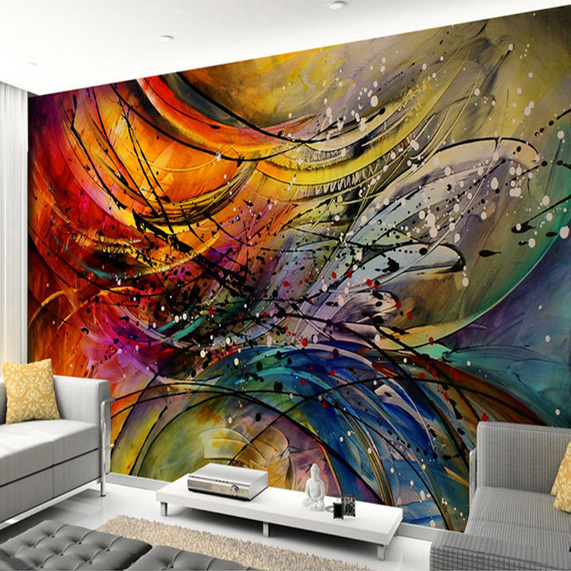 Custom Mural Wallpaper 3D Stereo Lines Curve Abstract Art