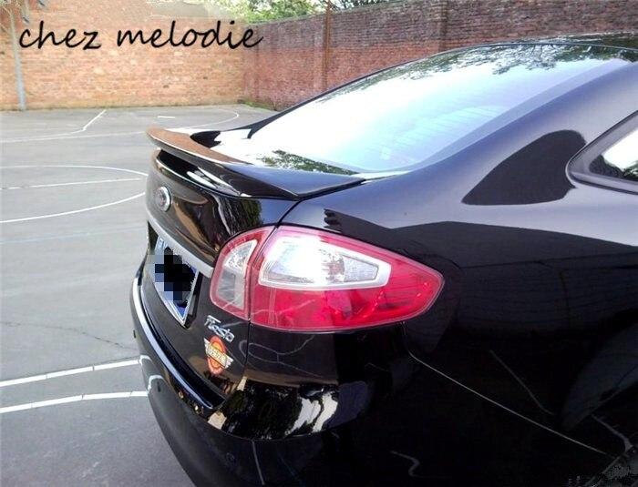 Apprêt gris non peint ABS voiture aileron de coffre arrière aile pour Ford Fiesta 2009-2016 berline