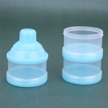 3-layers Portable Milk Powder Dispenser / Food Container for Baby or Kids