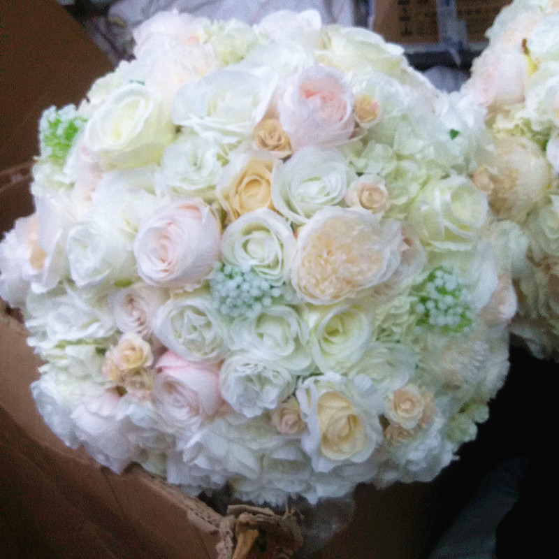 SPR NEW Free shipping wedding table centerpiece artificial flower ball wedding table flower table centerpiece
