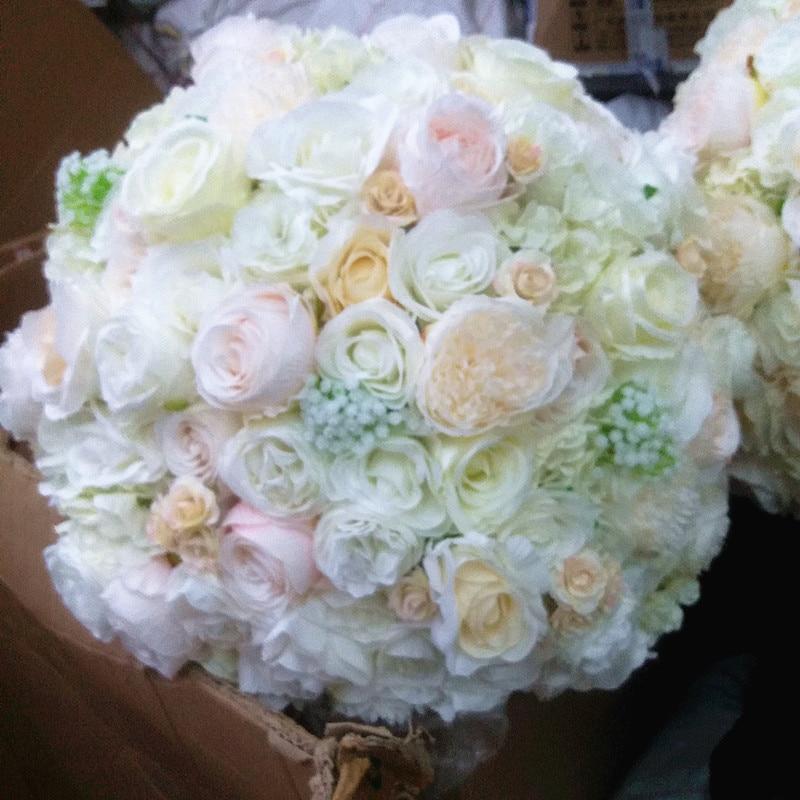 SPR NEW!! 送料無料ウェディングテーブルセンターピース造花ボール結婚式のテーブルの花テーブルセンターピース  グループ上の ホーム&ガーデン からの 造花 & ドライフラワー の中 1