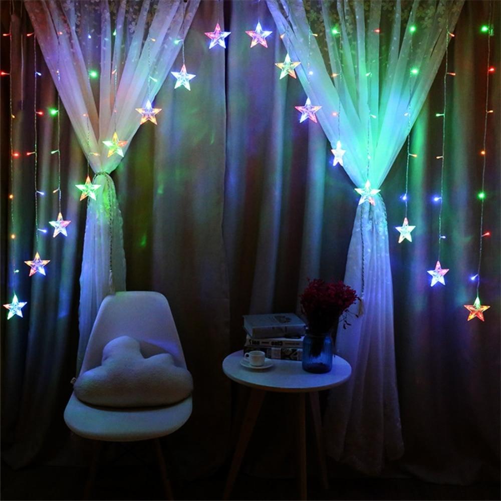 2018 hot sell holiday led String Light Holiday Wedding Christmas Party start Decor led light factory price 10cm 16leds