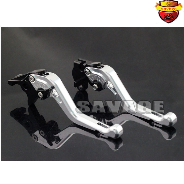 ФОТО For YAMAHA BT1100 03-06, FZS 600 FAZER 98-03 Silver Motorcycle Accessories CNC Aluminum Short Brake Clutch Levers