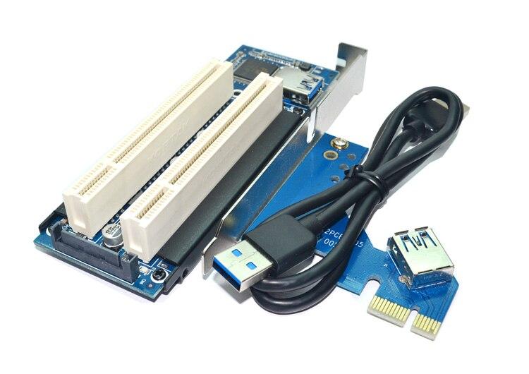Área de trabalho Pci-e para Adaptador Duplo Slot Pci Placa De Expansão USB 3.0 para PCI Placa PCI Add on Cartões F21697
