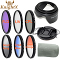 KnightX UV CPL FLD graduated polarizing color ND Filter Set for Canon Nikon Sony lenses d90 6D d3200 d5200 52mm 55mm 58mm 67mm