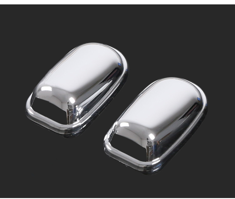 2pcs ABS Chrome Sprinkler Head Water Spray Nozzle Wiper Water-jet Cover Sticker For Ford Focus 2 MK2 3 4 MK3 MK4 Car Accessories