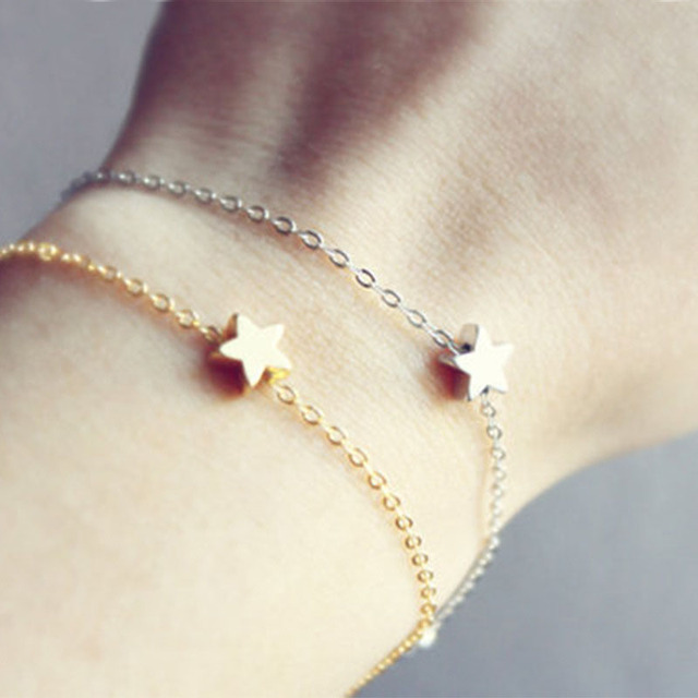 New Design Sale 1 Pc Women Lady Charming Elegant Golden Star Shape Simple Chain