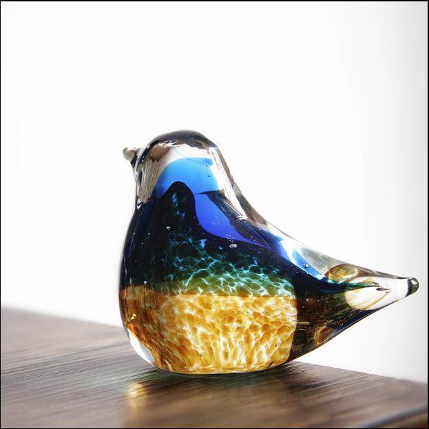 Handgemachte Kunst Glas Boutique Vogel Hause Dekoration Fengshui Eingerichtet Desktop Ornamente Kreative Geschenk Bücherregal Display 05306