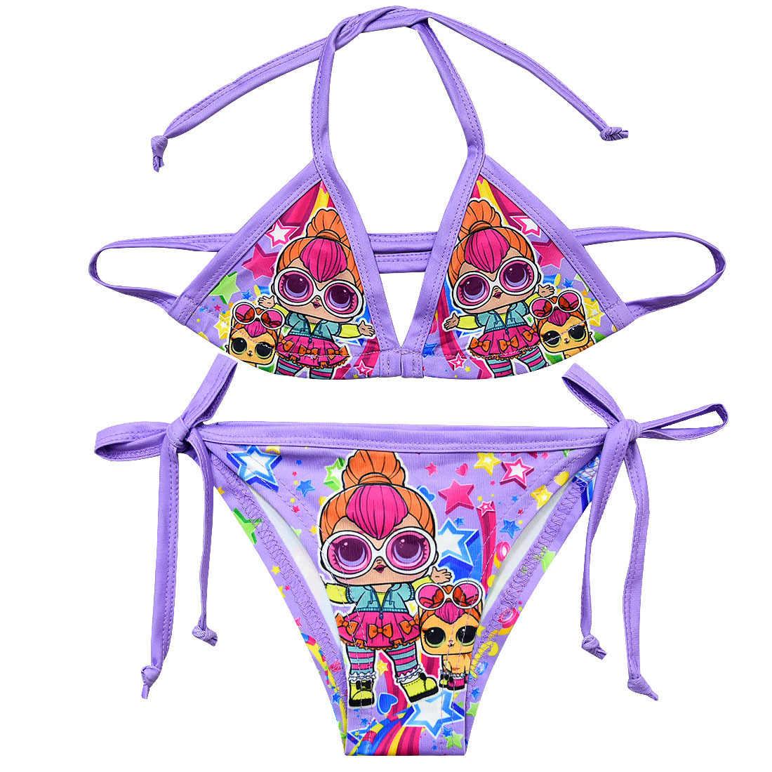 6949af6026 2019 Girls Swimsuit Two Piece 2-12 Years Children's Swimwear Infantil Girls  Bikini Suit 2019