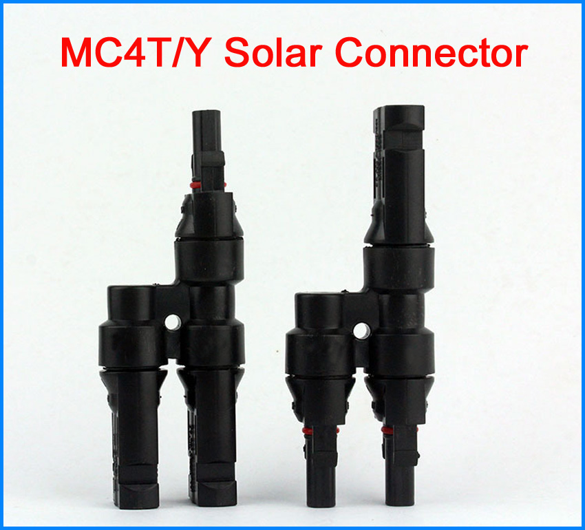 1000 VDC MC4 Connector 1 pair Solar Panel MC4 Branch T/Y Connectors Cable Silver-plated copper
