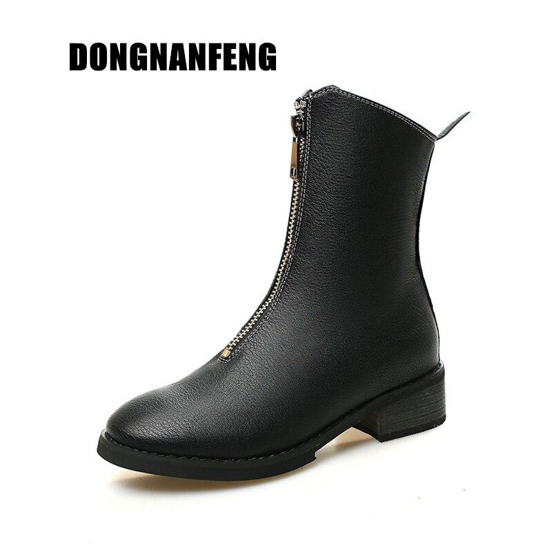 En Anglais Printemps Mère Porc 668ym Dames Zipper Bottes De Chaussures Femmes Retor Cuir Peau D'automne Black 35 Véritable Femelle Ym 40 Vache Dongnanfeng cqa7SOf