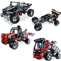 Decool 3342 3343 3344 3345 Lepin Technic Mini Container Truck Off-Roader Blocks Bricks Toys Compatible with Bela  8065 8066