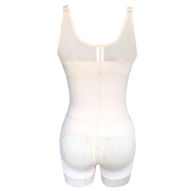 186fa3fca00 Women Skin Black Color One Piece Body Shaper with Lace Zipper on Front S M  L XL XXL 5XL 6XL Plus size Female Underwear Bodysuit