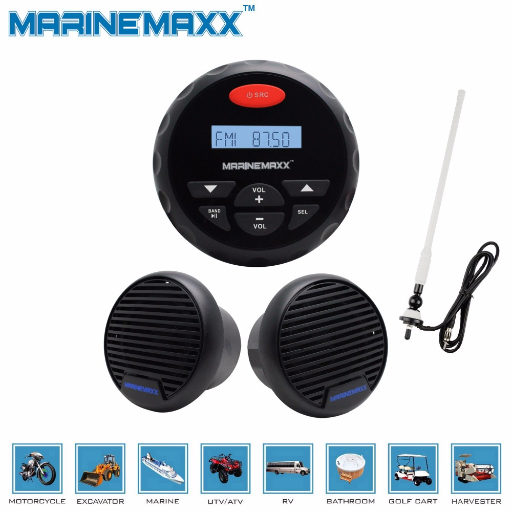 Outdoor MP3/USB Player Bluetooth FM/AM Radio Waterproof Marine Audio For  Boat ATV 3 Inch Waterproof Marine Speakers