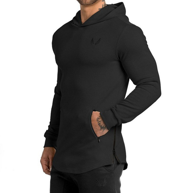 Long-sleeved Hooded Outdoor Men's tight-fitting sports 5