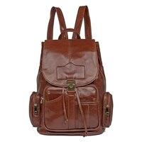 J.M.D 100% Guarantee Genuine Leather Multifunctional Double Shoulder Bag Large Capacity School Backpack For Teenager 7287B