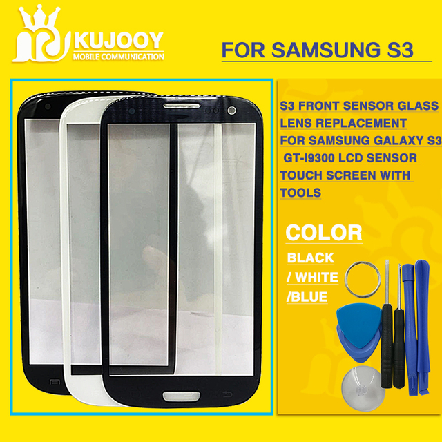 S3 Front Glass Lens Replacement For Samsung Galaxy S3 GT-I9300 LCD Sensor Glass Touch Screen With Tools