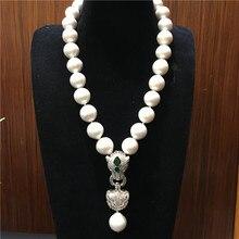Европейско-американский стиль натуральный 13-14 мм белый Эдисон огромный жемчуг ожерелье Модные ювелирные изделия