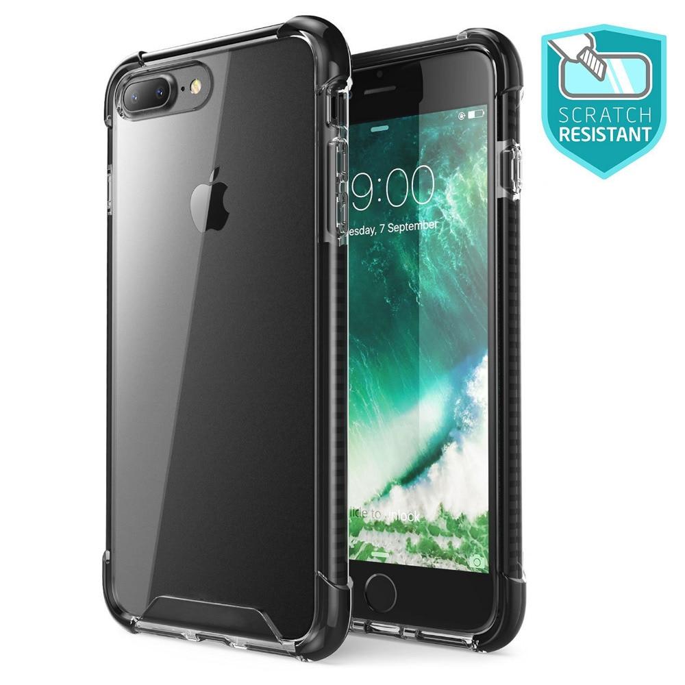 Pouzdro Ultra Slim Sleek ShockProof odolné proti poškrábání, odolné proti poškrábání, pro iPhone 7 8 / Iphone 7/8 Plus, průhledné průhledné případy