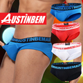 Free shipping!High quality brand AUSTINBEM solid briefs Man 3 d shorts underwear men sexy soft cotton pants men's gay underwear