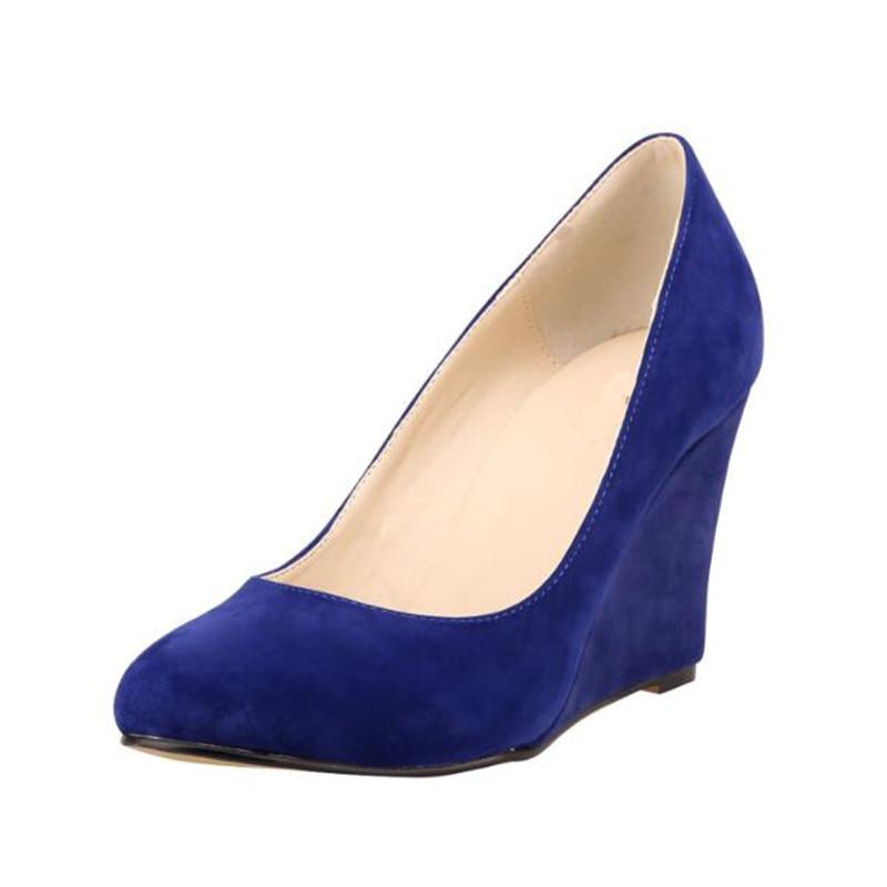 ФОТО ASUMER 2016 new arrive women pumps PU leather ladies peep toe wedding shoes woman fashion sexy wedges high heels z250
