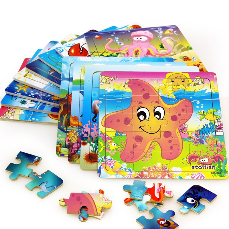 2018 Wooden Puzzle Toy Educational Developmental Baby Kids ...