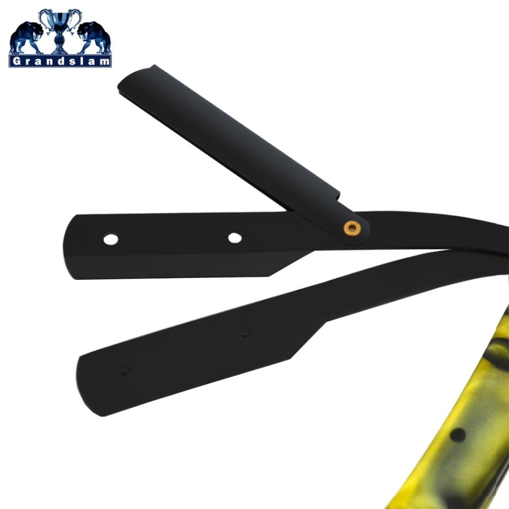 Grandslam Professional Barber Straight Edge Shaving Razor For Man Shaving Razors +Folding Knife Pouch Case+20 Double Edge Blades 2