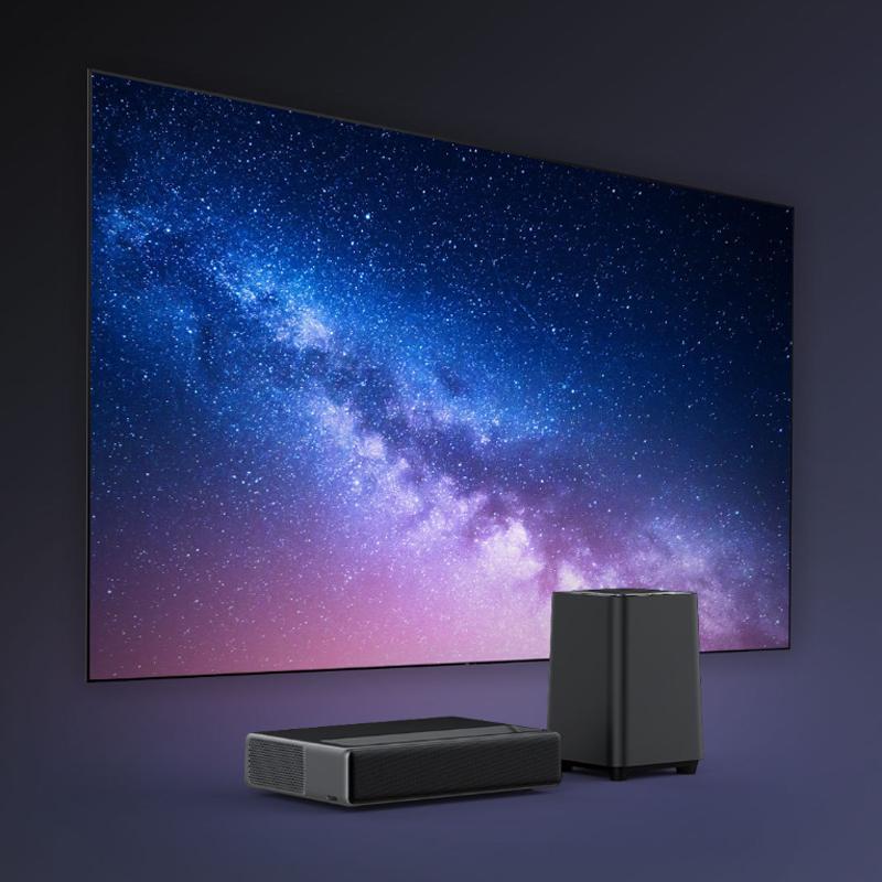 Wemax One Full HD TV 1688 ANSI Lumen FHD pas d'écran TV WIFI 2.4G 5.0G avec Wemax S1 Subwoofer barre de son pour Home Theatre