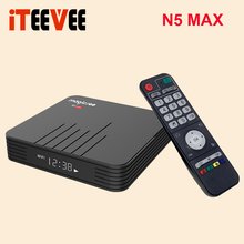Magicsee N5 Max Amlogic S905X3 Android 9 0 TV BOX 4G 32G 64G Rom 2 4+5G Dual Wifi Bluetooth 4 0 Smart Box 4K Set Top Box cheap iTEEVEE 100M Amlogic S905X3 Quad core ARM Cortex-A55 64GB eMMC HDMI 2 0 Mali-G31 MP2 4G DDR3 0 45 DC 5V 2A TF Card Up To 32GB